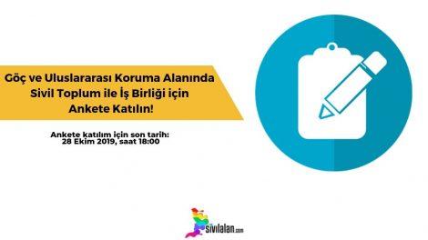Göç ve Uluslararası Koruma Alanında Sivil Toplum ile İş Birliği için Ankete Katılın!