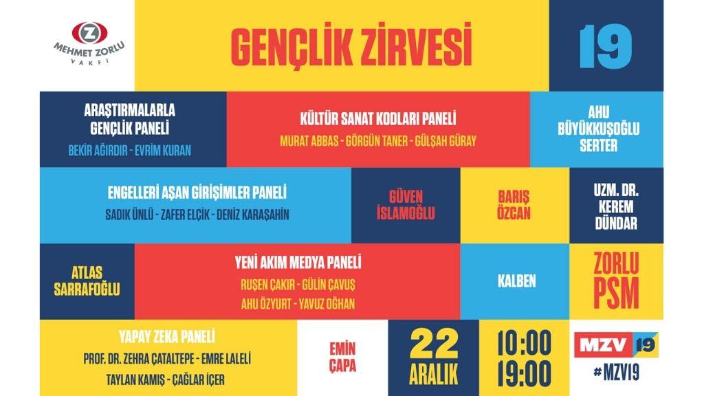 4. MZV Gençlik Zirvesi 22 Aralık'ta, Zorlu PSM'de!