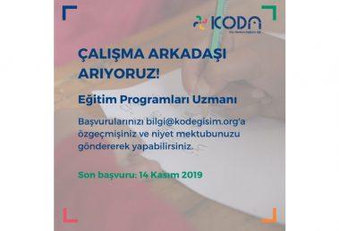 Köy Okulları Değişim Ağı (KODA) Eğitim Programları Uzmanı Arıyor!