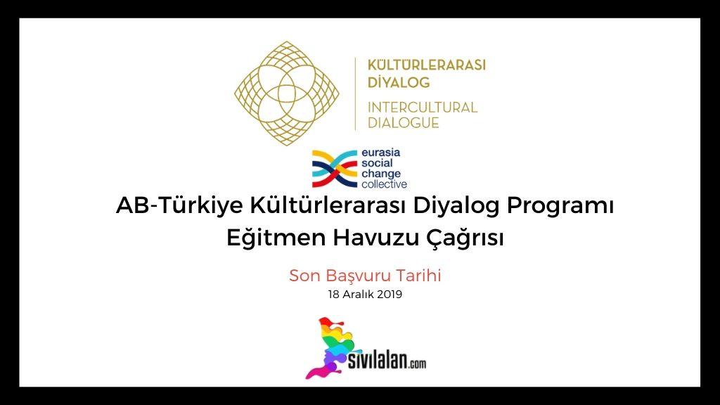 AB-Türkiye Kültürlerarası Diyalog Programı Eğitmen Havuzu Çağrısı