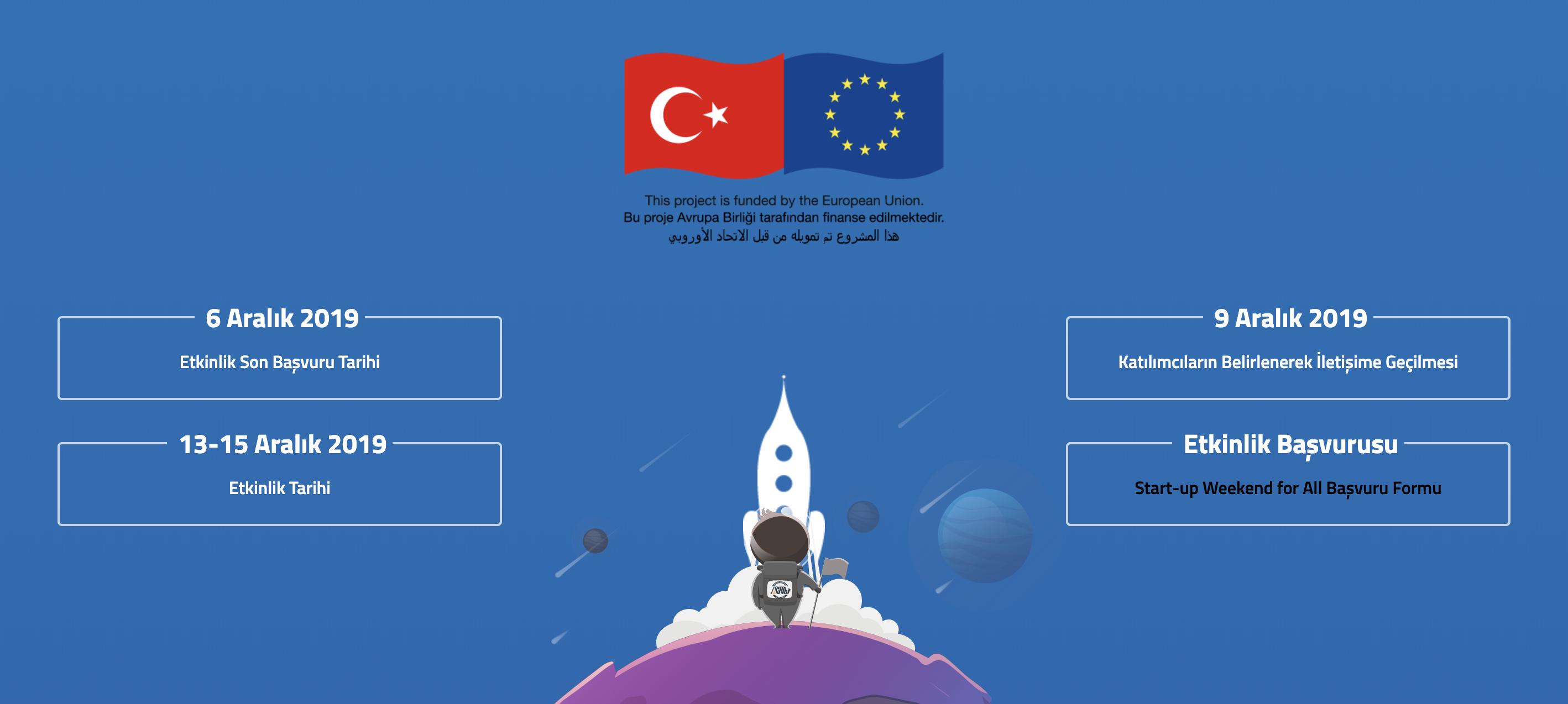Startup Weekend For All, 13-15 Aralık'ta Adana'da