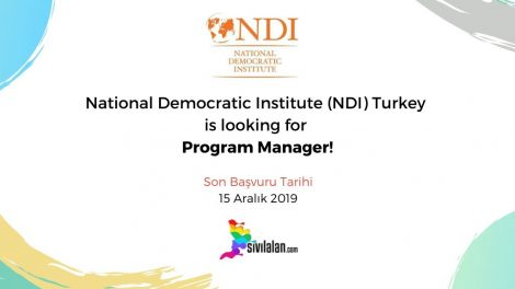 National Democratic Institute (NDI) Turkey is looking for Program Manager!