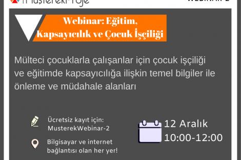 MüşterekProje Online Konferans: Eğitim, Kapsayıcılık ve Çocuk İşçiliği