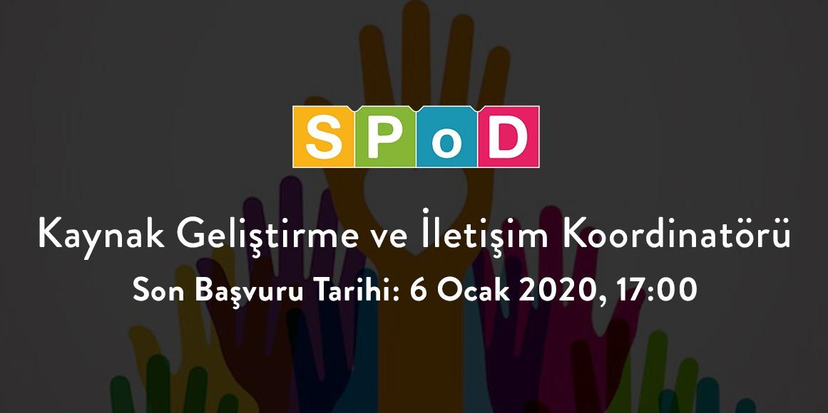 Sosyal Politika Cinsiyet Kimliği ve Cinsel Yönelim Çalışmaları Derneği (SPoD) Kaynak Geliştirme Ve İletişim Koordinatörü Arıyor