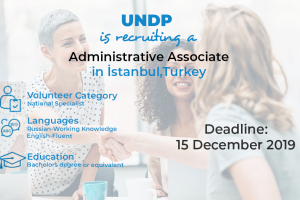 UNDP is recruiting a Administrative Associate in İstanbul