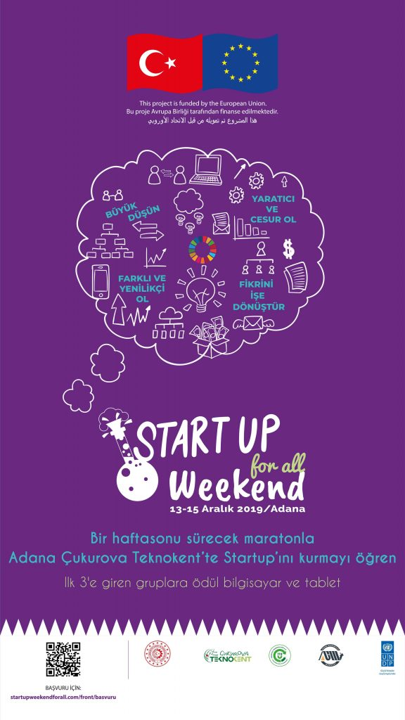 Startup Weekend For All, 13-15 Aralık'ta Adana'da