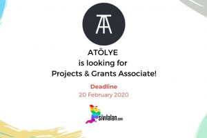 ATÖLYE is looking for Projects & Grants Associate!