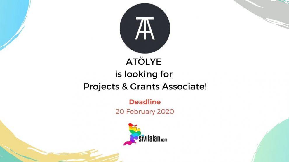 ATÖLYE is looking for Projects & Grants Associate!