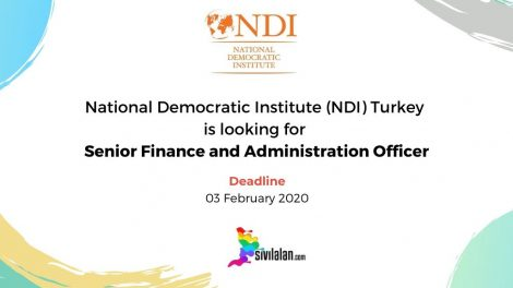 National Democratic Institute (NDI) Turkey is looking for Senior Finance and Administration Officer