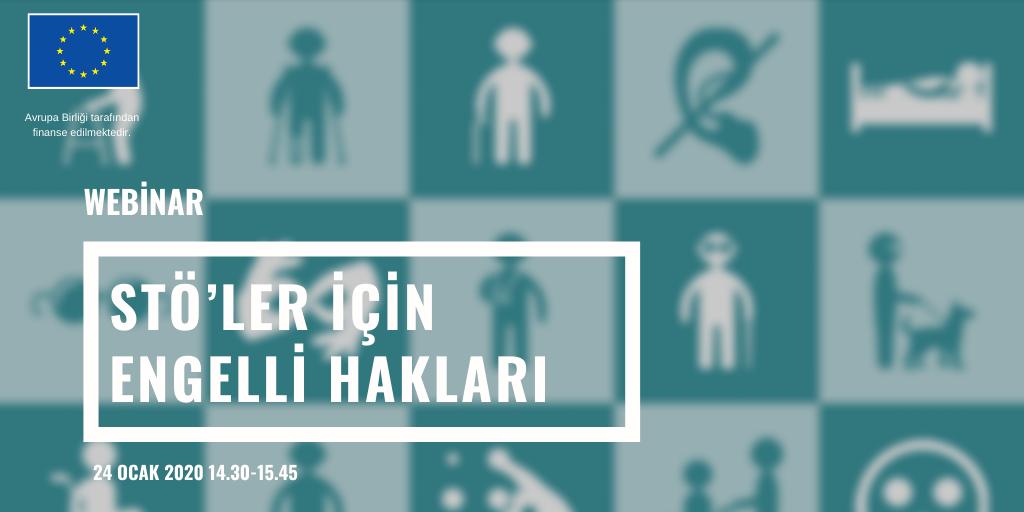 STÖ'ler için Engelli Hakları Webinarına Davetlisiniz