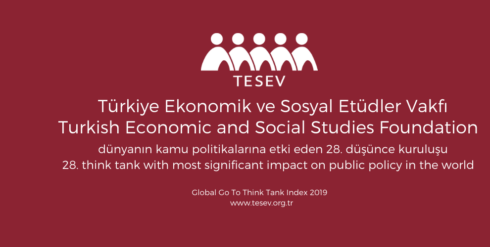 TESEV yine dünyanın en güvenilir düşünce kuruluşları arasında ilk yüzde