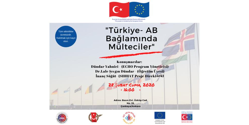 """""""AB-Türkiye Bağlamında Mülteciler"""" Paneline Davetlisiniz"""