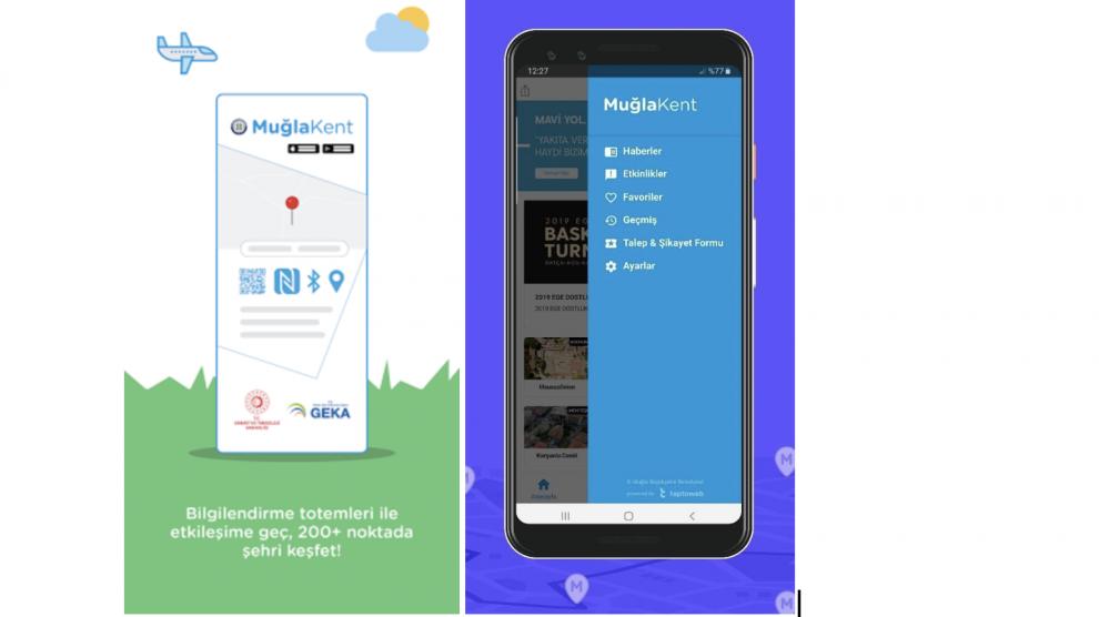 Türkiye'nin İlk Akıllı Şehircilik Mobil Uygulaması Muğlakent