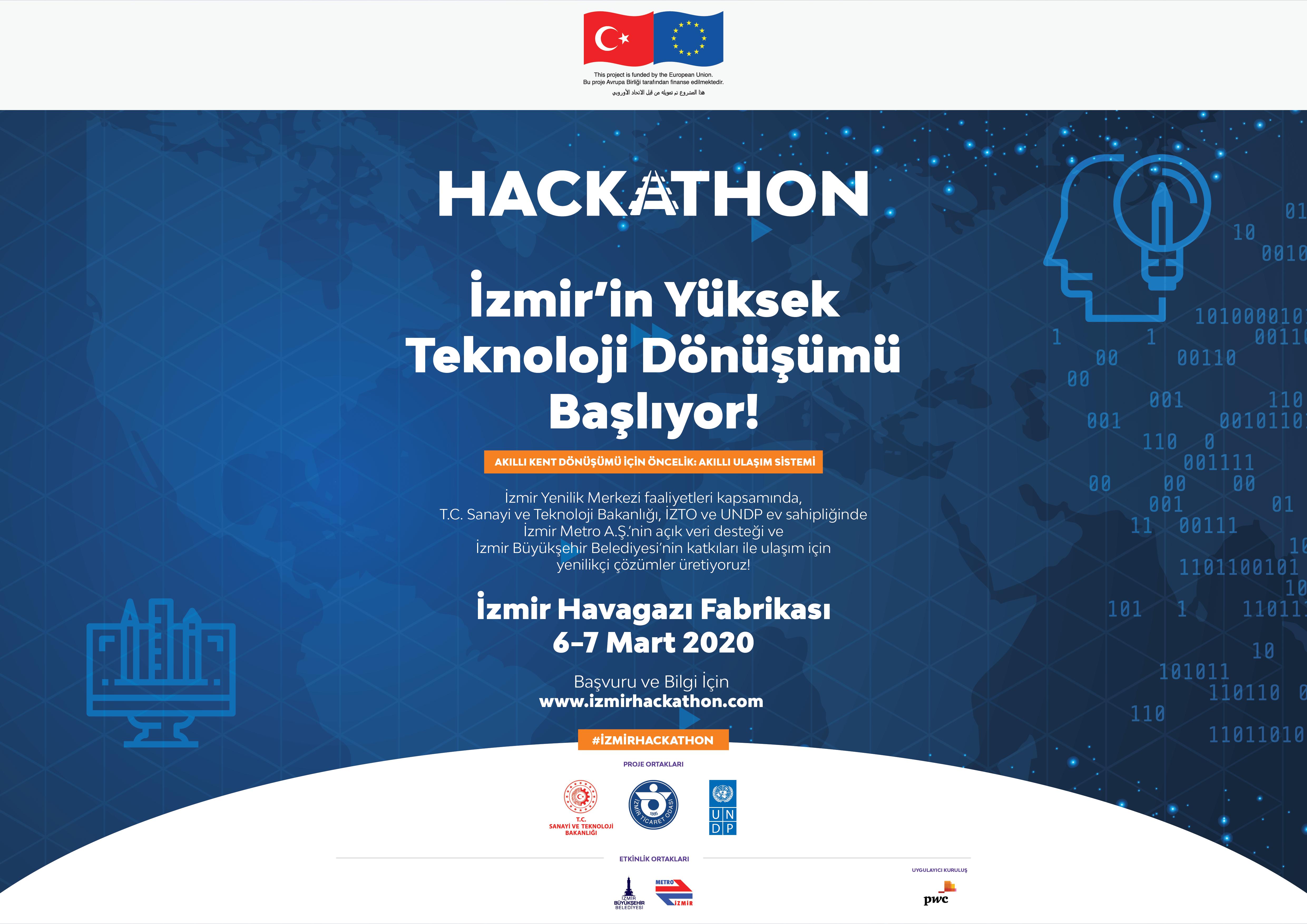 Kapsayıcı ve Akıllı Şehirler İçin İzmir'de Buluşuyoruz: İnovasyon, Dijitalleşme ve Yüksek Teknoloji Dönüşümü İzmir Hackhathon'unda