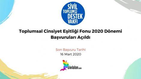 Toplumsal Cinsiyet Eşitliği Fonu 2020 Dönemi Başvuruları Açıldı
