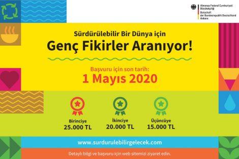 Almanya Büyükelçiliği'nden Sürdürülebilirlik Temalı Ödüllü Proje Fikri Yarışması!