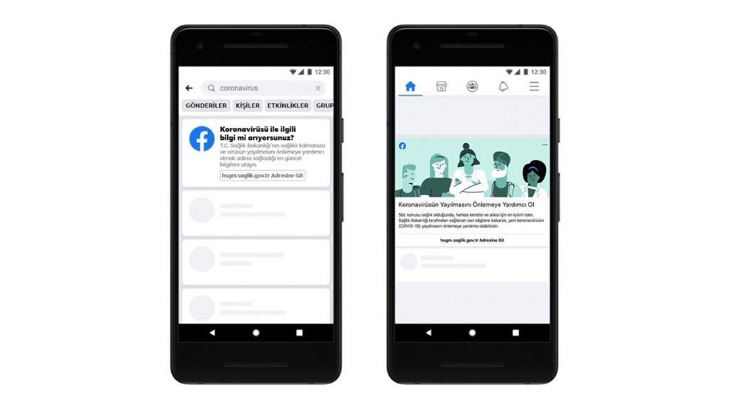 Facebook, T.C. Sağlık Bakanlığı ile Birlikte COVID-19'un Türkiye'de Yayılmasını Önlemek İçin Çalışıyor