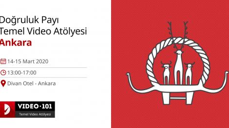 Doğruluk Payı Temel Video Atölyesi 14-15 Mart'ta Ankara'da!