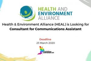 Health & Environment Alliance (HEAL) is Looking for Consultant for Communications Assistant