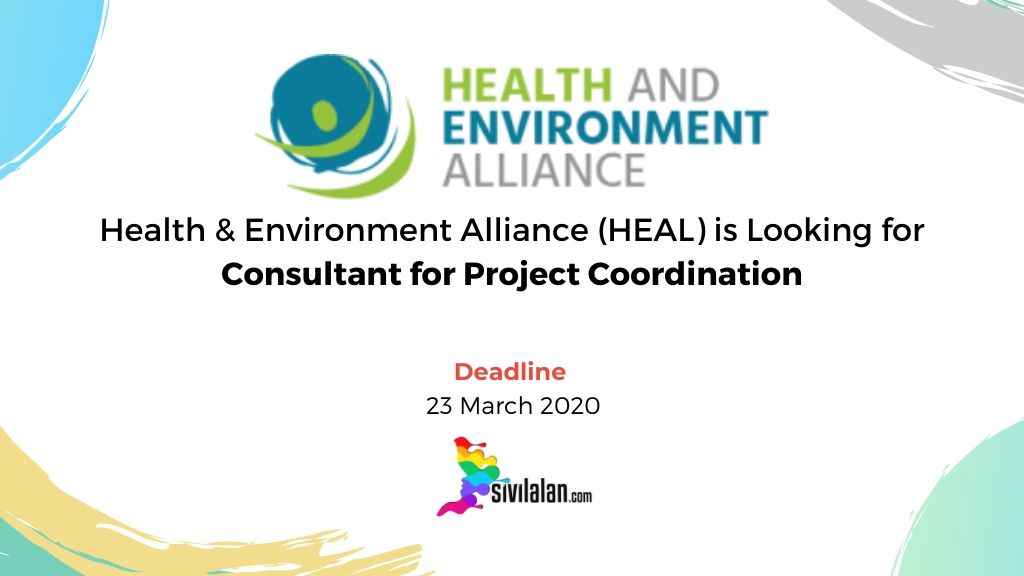Health & Environment Alliance (HEAL) is Looking for Consultant for Project Coordination