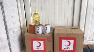 Kızılay ilk 30 bin gıda kolisini ihtiyaç sahiplerine ulaştırdı