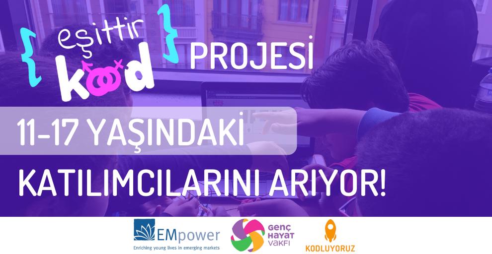Eşittir Kod Projesi Online Eğitim Katılımcılarını Arıyor!