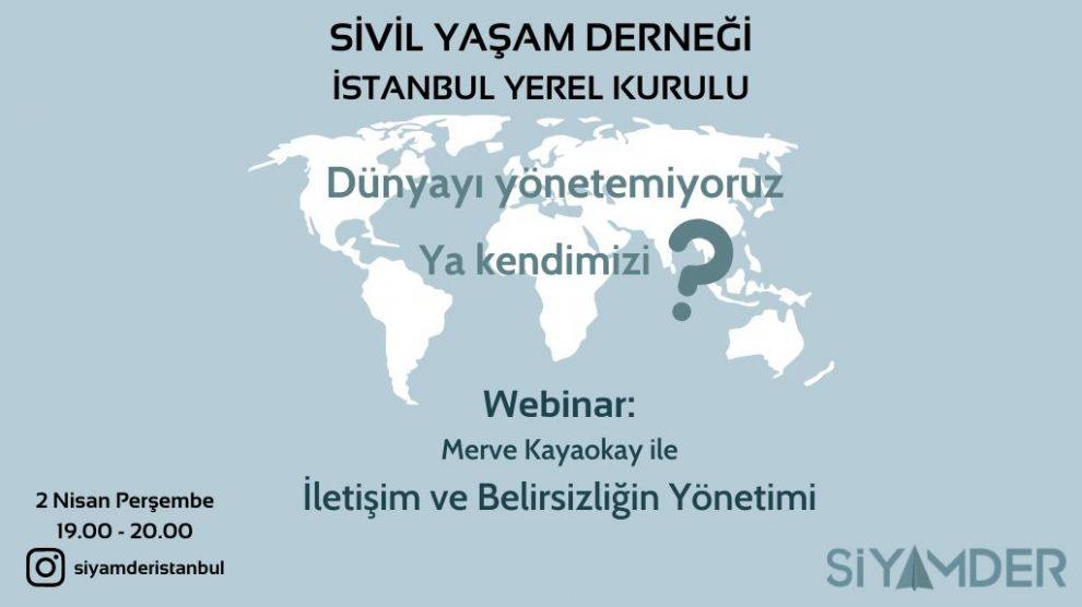 Sivil Yaşam Derneği İstanbul Yerel Kurulu online etkinliklerine tüm hızıyla devam ediyor!