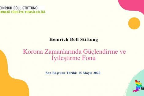 Heinrich Böll Stiftung Korona Zamanlarında Güçlendirme ve İyileştirme Fonu