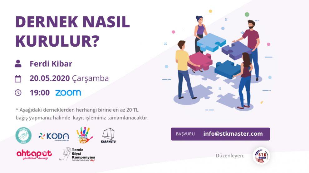 STK Master - Dernek Danışmanlığı, Webinar Serilerine Dernek Nasıl Kurulur Eğitimi ile Başlıyor!