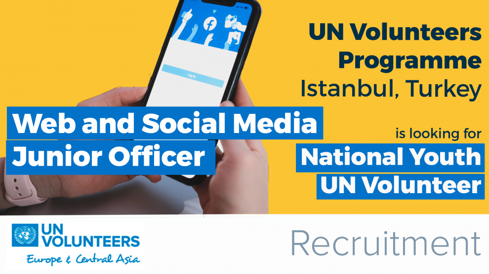 UN Volunteers Programme is looking for Web and Social Media Junior Officer