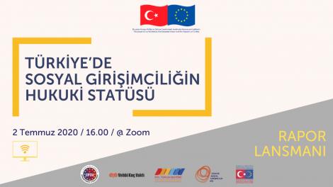 Türkiye Sosyal Girişimcilik Ağı Projesi çerçevesinde hazırlanan Türkiye'de Sosyal Girişimciliğin Hukuki Statüsü: İhtiyaçlar ve Öneriler raporu kamuoyuyla buluşuyor.