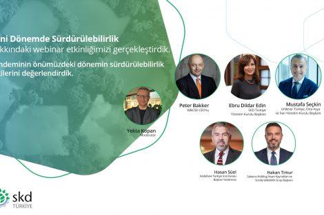"""SKD Türkiye'nin düzenlediği """"Yeni Dönemde Sürdürülebilirlik"""" webinarı yapıldı"""