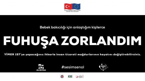 """""""SESİM SEN OL"""" Sloganı İle İnsan Ticaretine Dikkat Çekildi!"""