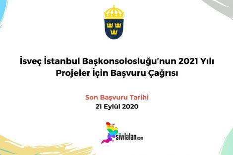 İsveç İstanbul Başkonsolosluğu'nun 2021 Yılı Projeler İçin Başvuru Çağrısı