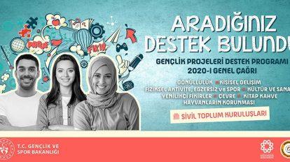 Gençlik Projeleri Destek Programı 2020 - 1 Genel Çağrı