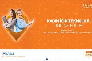 Kadın için Teknoloji Projesi Online Eğitim Duyurusu