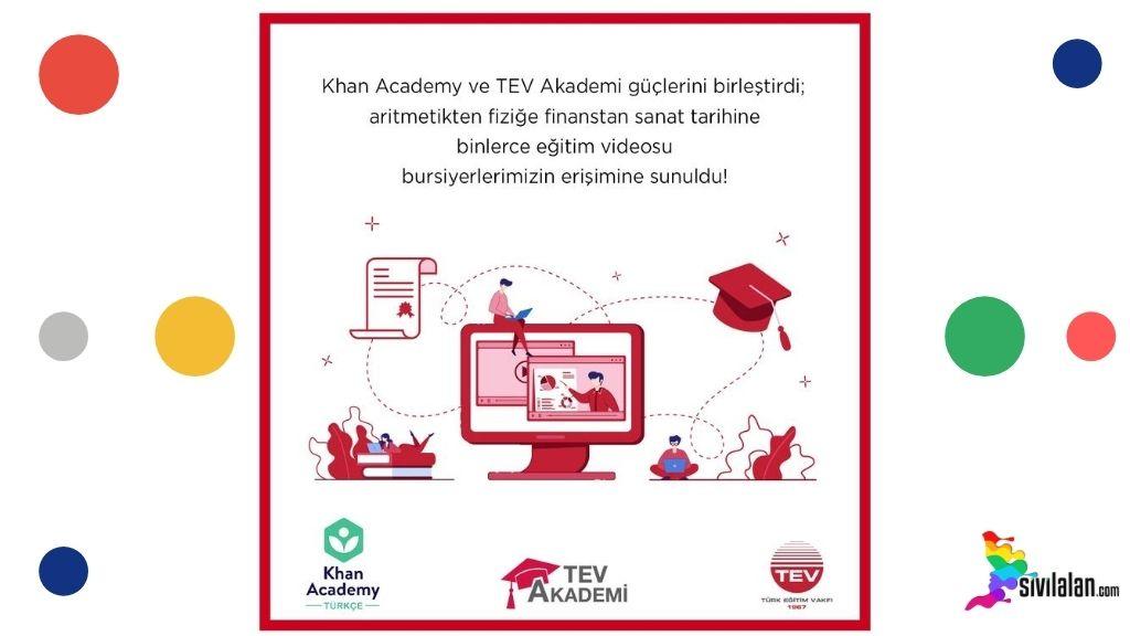 TEV Akademi ve Khan Akademi'den bursiyerlere 360 derece eğitim fırsatı!