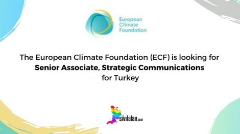 The European Climate Foundation (ECF) is looking for Senior Associate, Strategic Communications for Turkey