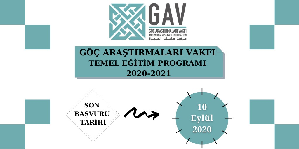 Göç Araştırmaları Vakfı Göç ve Diaspora Akademisi Temel Eğitim Programı