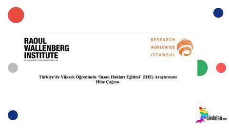 Türkiye'de Yüksek Öğrenimde 'İnsan Hakları Eğitimi' (İHE) Araştırması Hibe Çağrısı