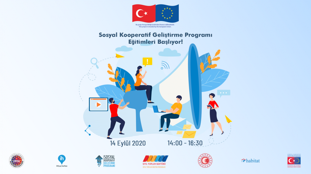 Sosyal Kooperatif Geliştirme Programı Eğitimleri Çevrim İçi Olarak 14 Eylül'de Başlıyor!
