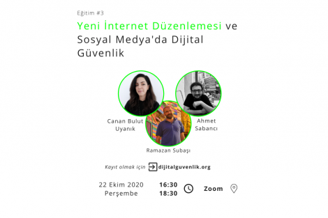 Yeni İnternet Düzenlemesi ve Sosyal Medya'da Dijital Güvenlik Eğitimi