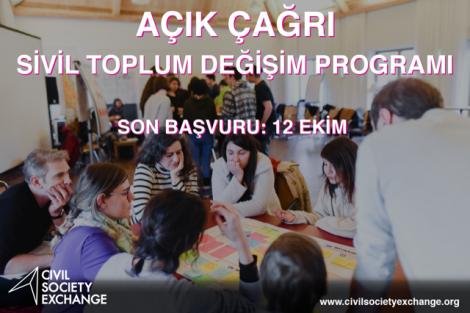 Civil Society Exchange Program (Sivil Toplum Değişim Programı) Başvuruları 12 Ekim'e Kadar Uzatıldı!