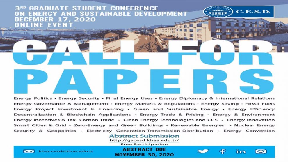 Lisansüstü Öğrenci Konferansı 17 Aralık'ta Online Olarak Gerçekleşecek