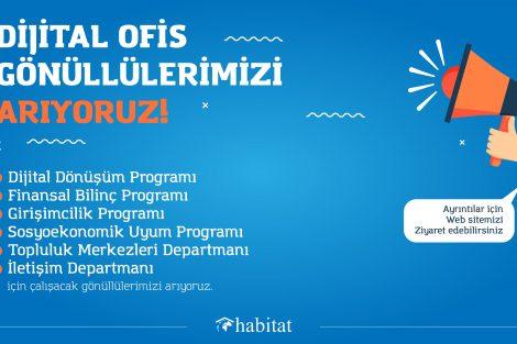 Habitat Derneği Dijital Ofis Gönüllüleri Arıyor!