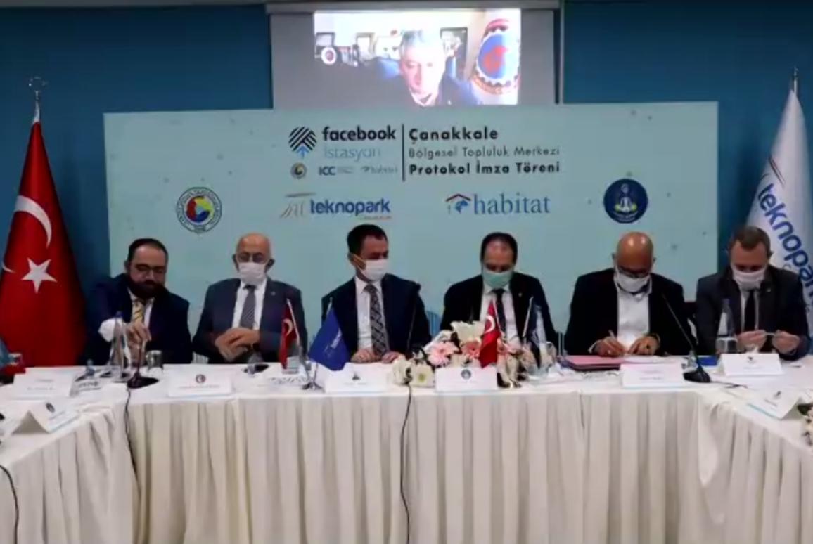 """""""Çanakkale İstasyon"""" Facebook, TOBB, Habitat, Çanakkale Ticaret Borsası ve Çanakkale Teknopark İş Birliğiyle Açılıyor"""