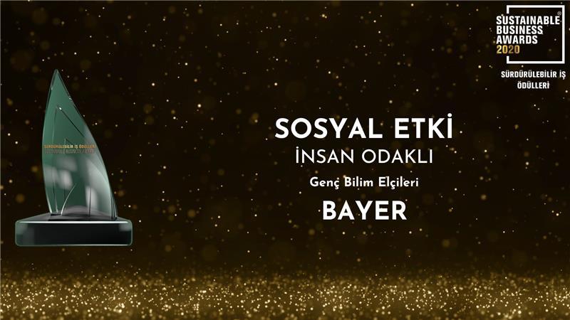 """Bayer Genç Bilim Elçileri Projesine """"Sosyal Etki"""" Ödülü!"""
