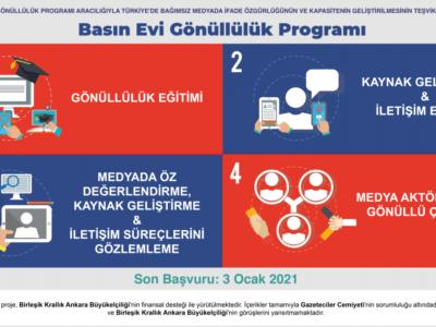 Gazeteciler Cemiyeti Basın Evi Gönüllülük Programı Başvuruya Açıldı