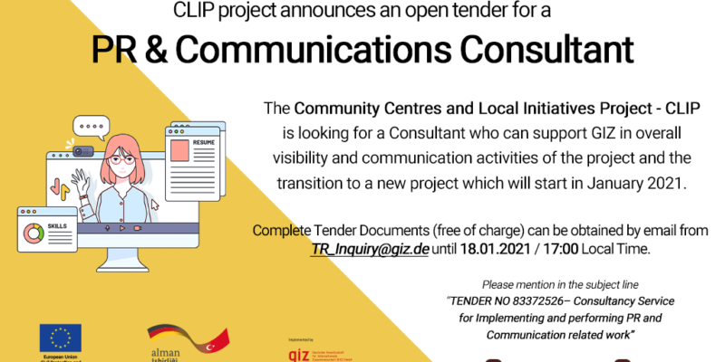 Tender: Consultancy Service for Implementing and performing PR and Communication related work