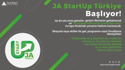 """Genç Başarı Eğitim Vakfı'nın Yürüteceği """"JA StartUp Türkiye"""" Başlıyor!"""